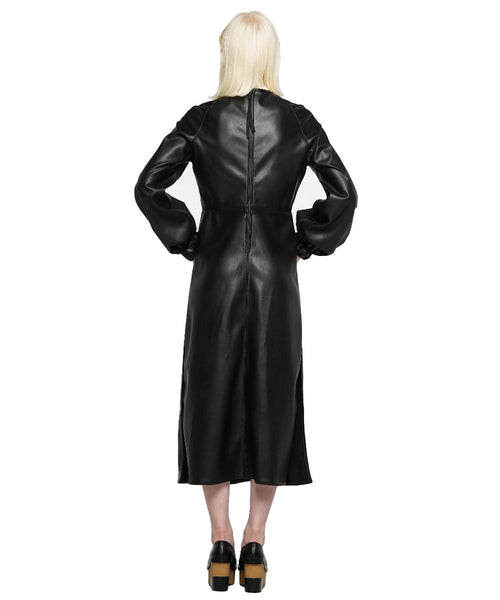 Vegan leather midi dress - KO by Kolotiy
