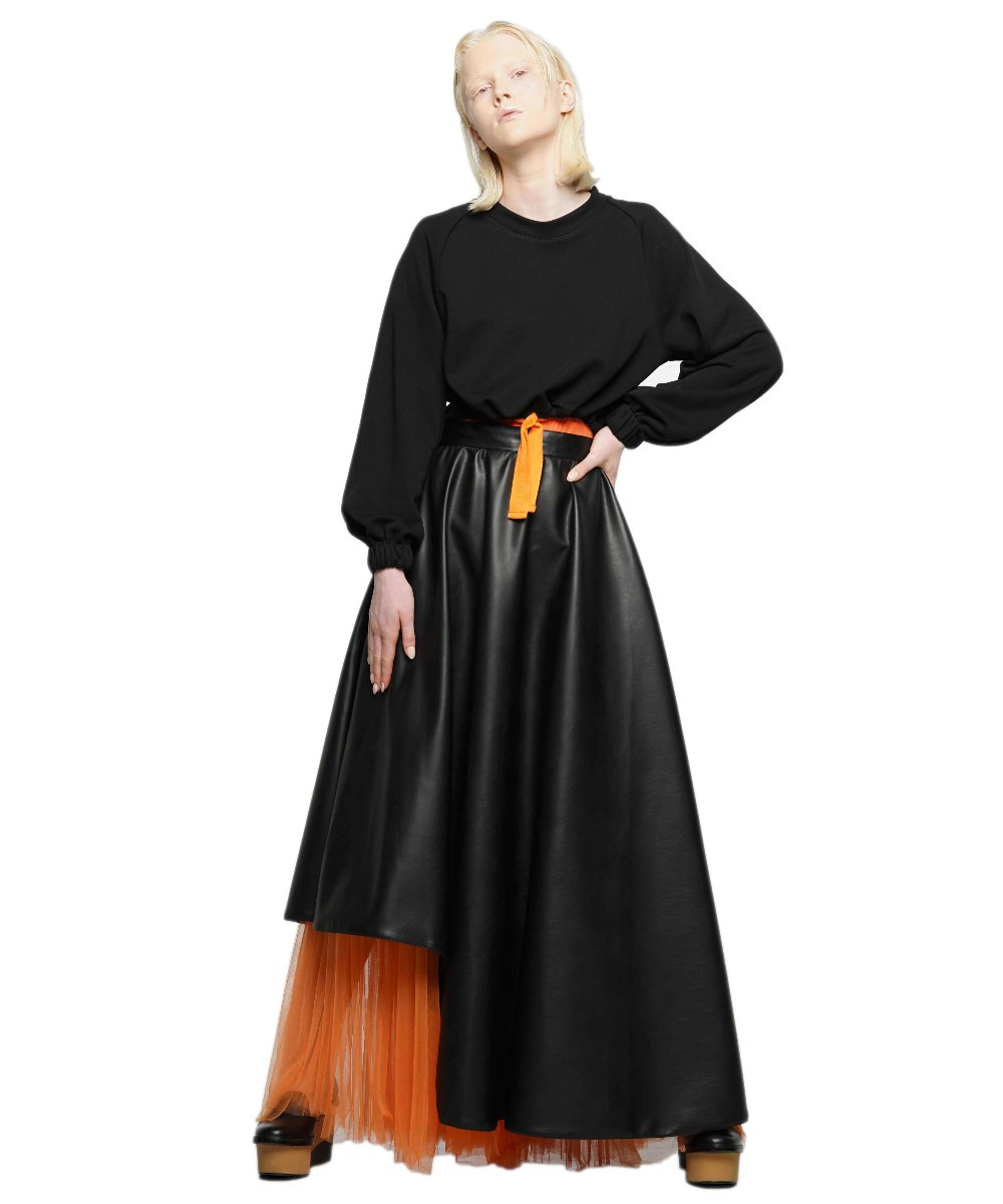 Vegan leather maxi skirt - KO by Kolotiy