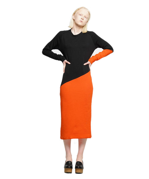 Midi jersey color block dress - KO by Kolotiy