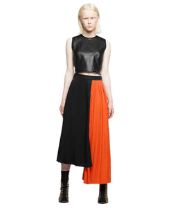 Cropped vegan leather tank - KO by Kolotiy