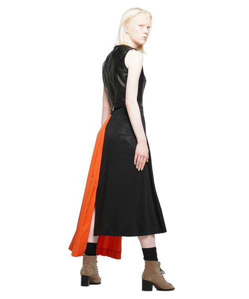 Colour block tencel midi asymmetric skirt - KO by Kolotiy