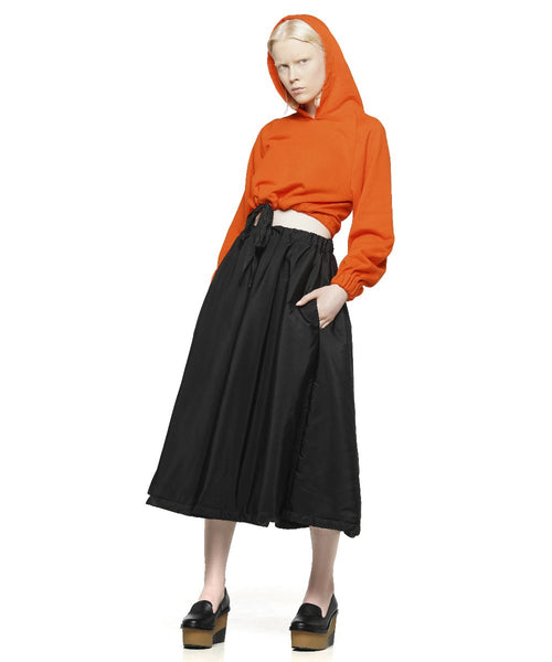 Orange cotton cropped hoodie - KO by Kolotiy