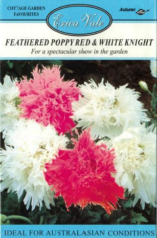 Feathered Poppy Red and White Knight