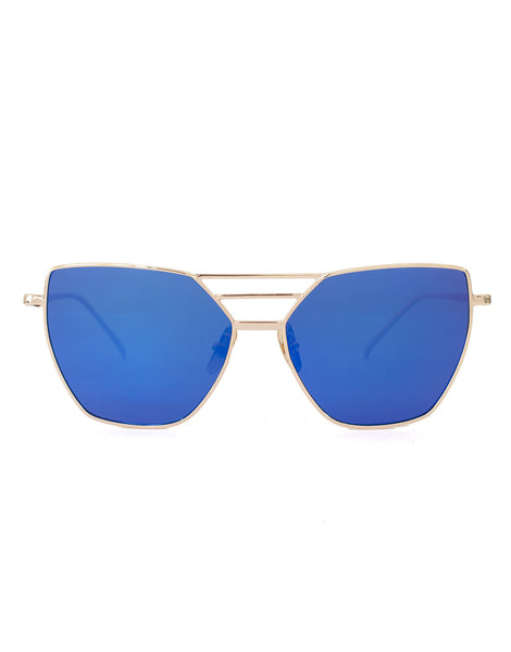 Triple Blue & Silver Sunglasses
