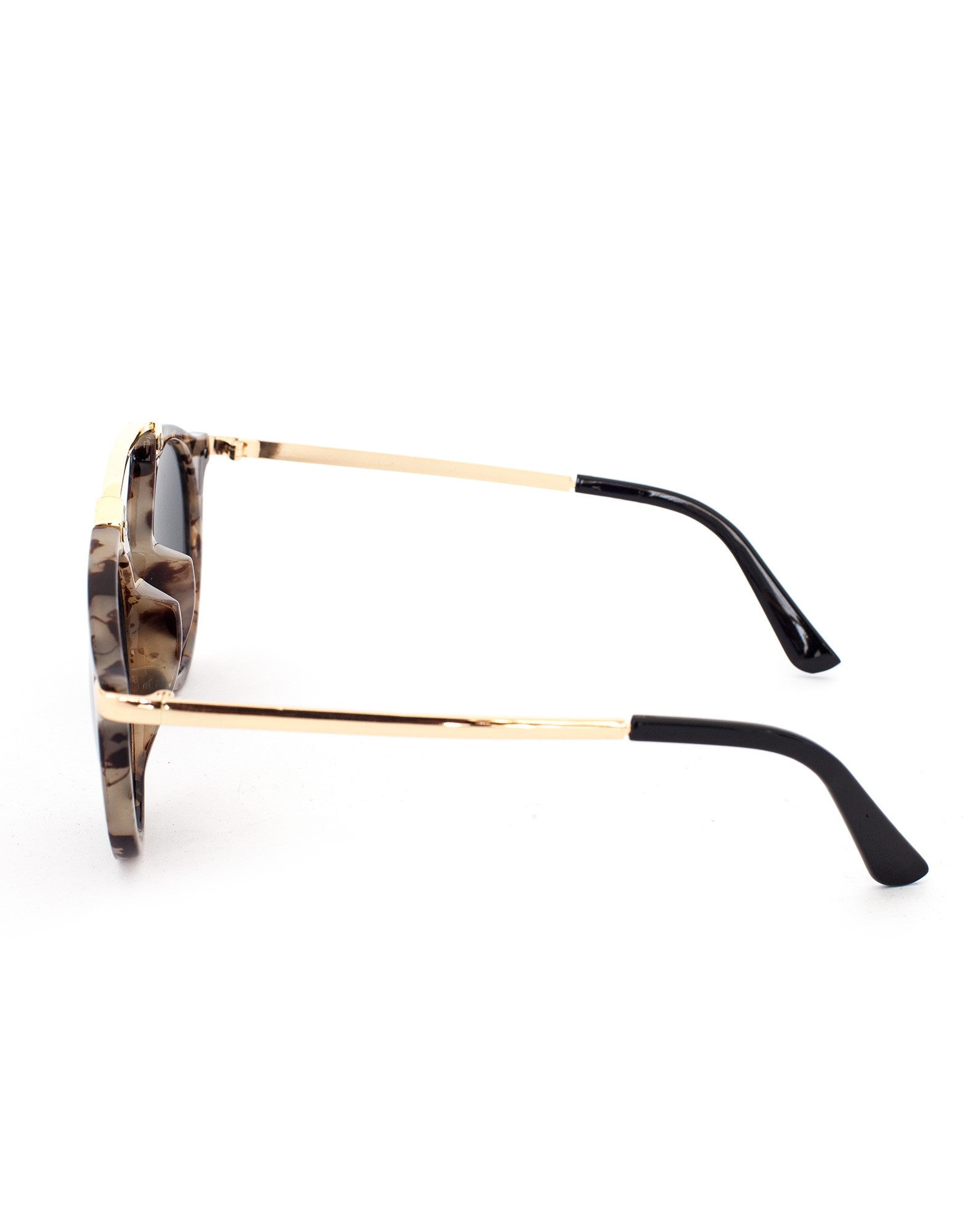 a9106556b8 ... Eighty6 Mischief Brown Marble Sunglasses Side ...