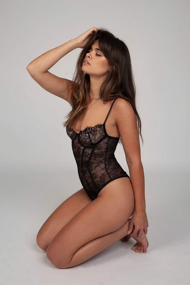 The Saki Bodysuit - Black