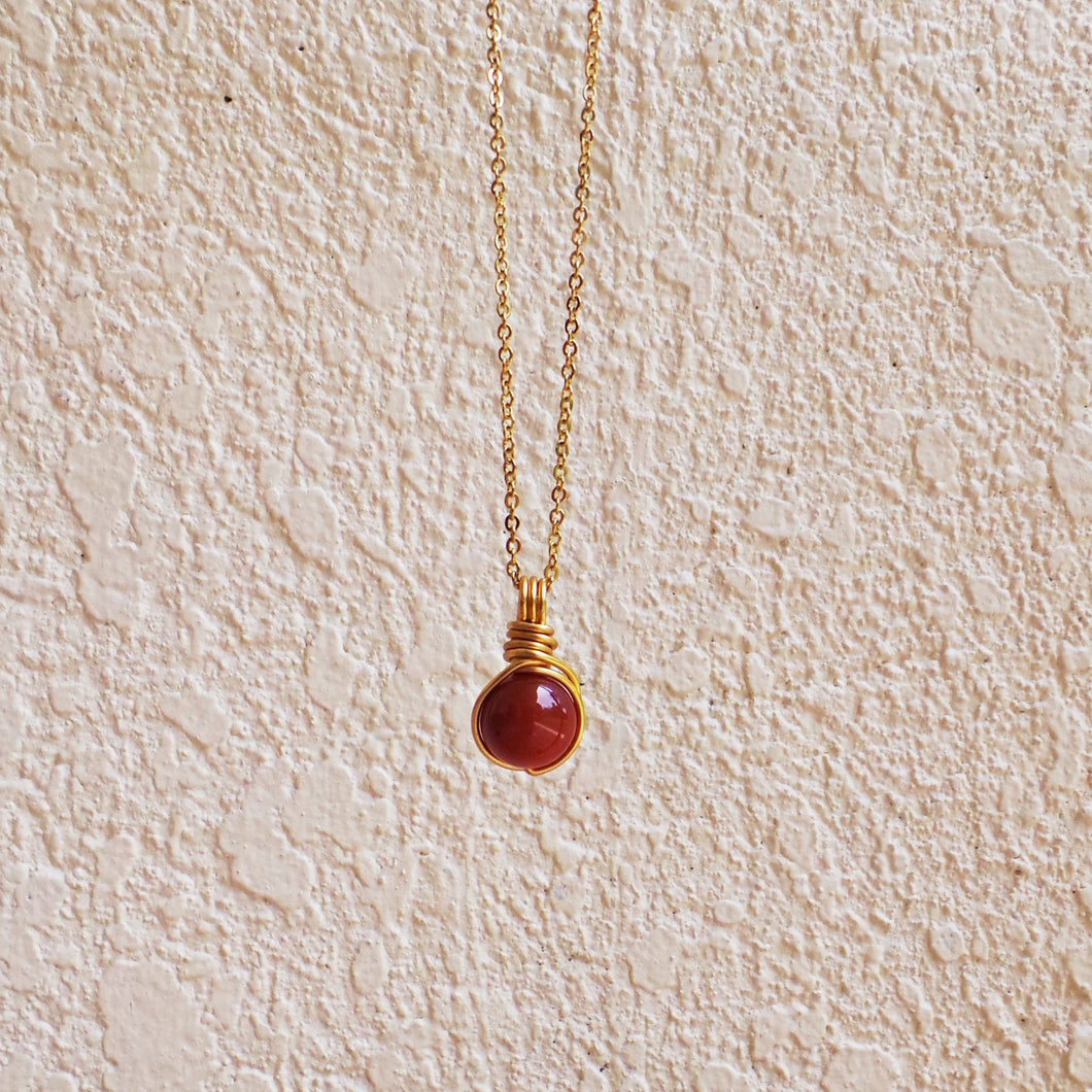 Dew Necklace - Carnelian