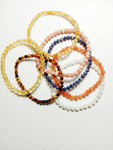 4mm Stackable Crystal Bracelets
