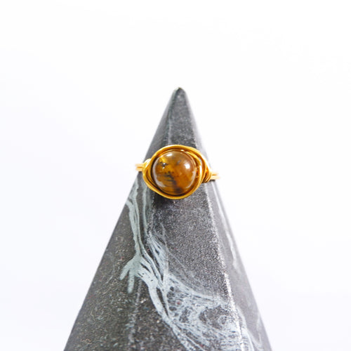 Simple Ring - Tiger's Eye