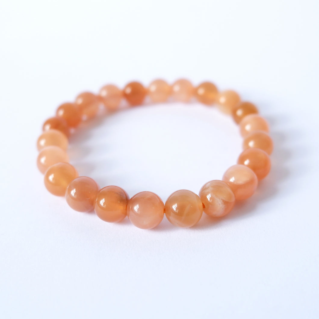 Moonstone Crystal Bracelet - Peach