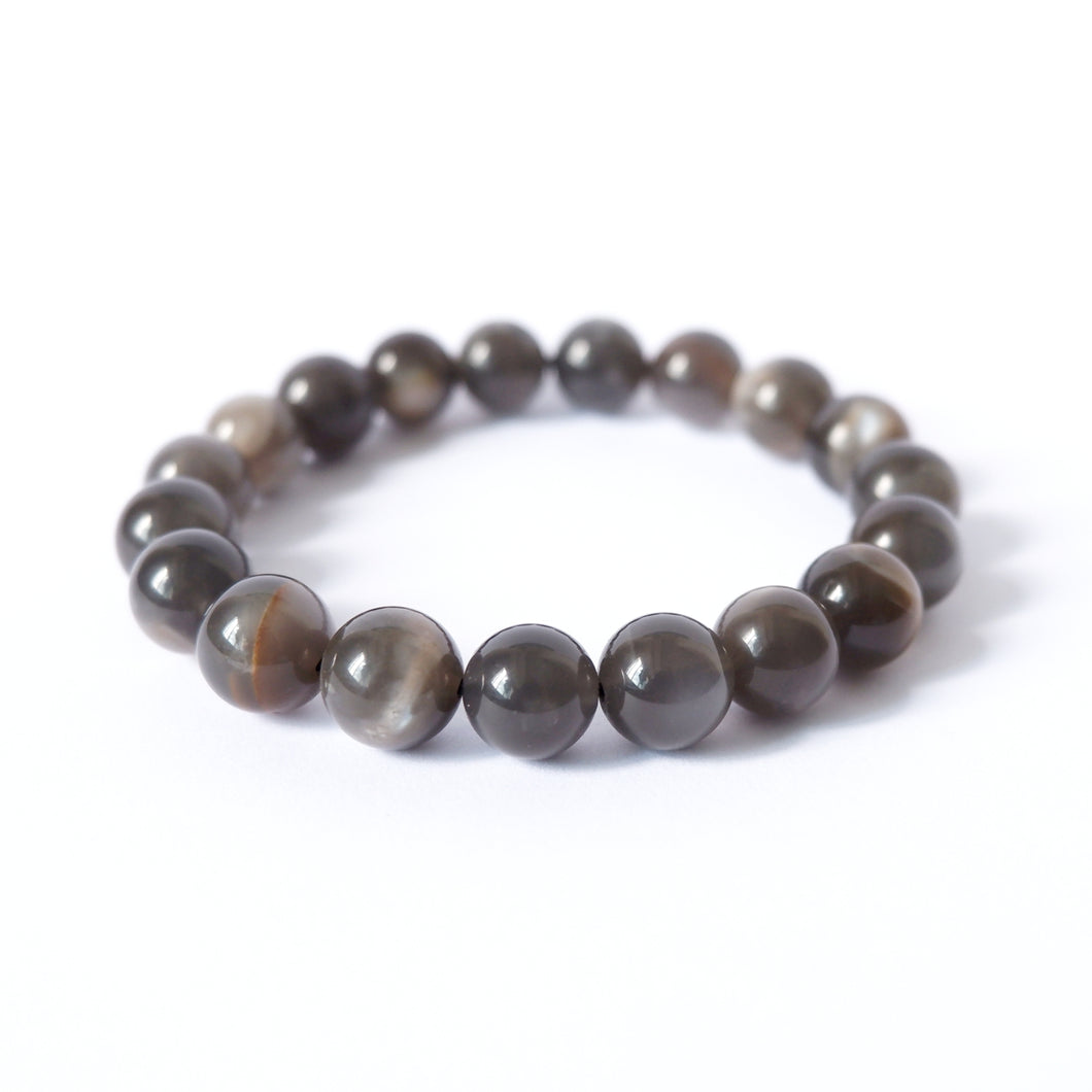 Moonstone Crystal Bracelet - Gray