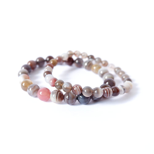 Botswana Brown Agate Crystal Bracelet  - High Grade