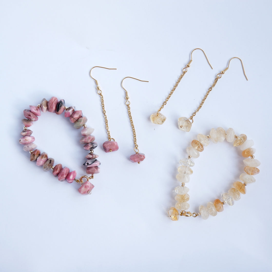 Citrine and Rhodonite - Orelia Collection