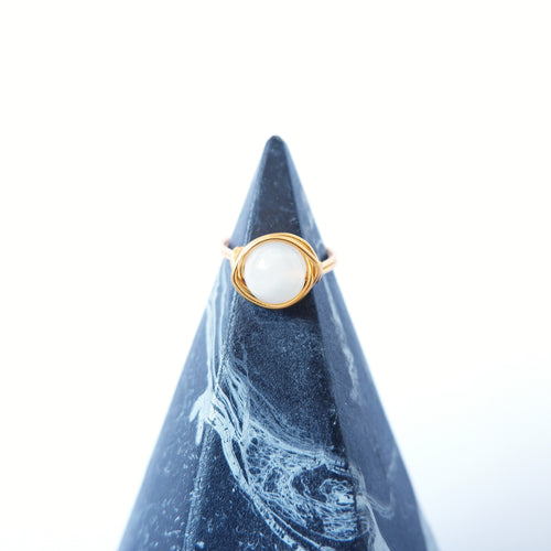 Simple Ring - Moonstone