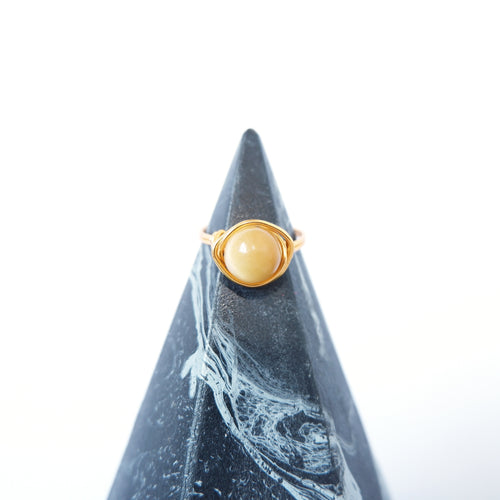 Simple Ring - Yellow Tiger's eye