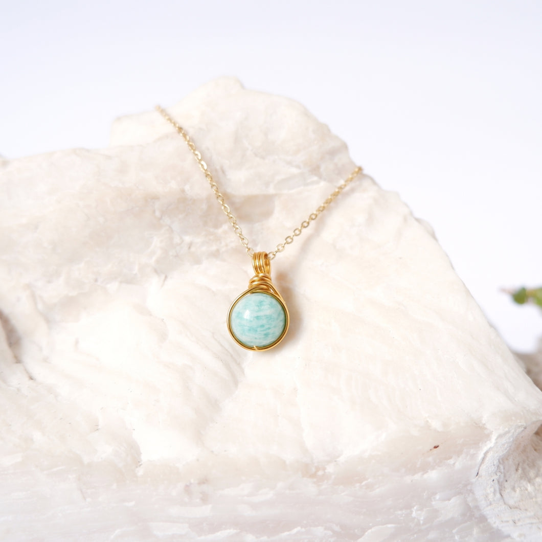 Dew Necklace - Amazonite