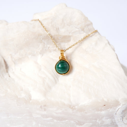 Dew Necklace - Malachite