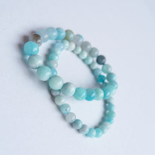 Amazonite Blue Crystal Bracelet
