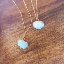 Aquamarine Cubic Key Necklace