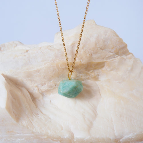 Amazonite Cubic Necklace