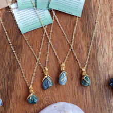 Free-form Moss Agate Necklace