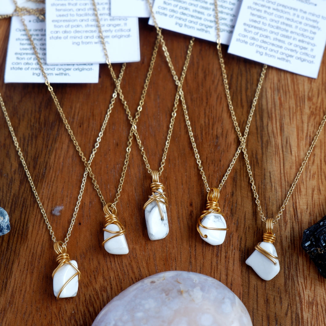 Free-form Howlite Necklace