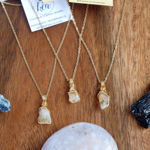 Free-form Citrine Necklace