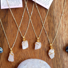 Free-form Rose Quartz Necklace