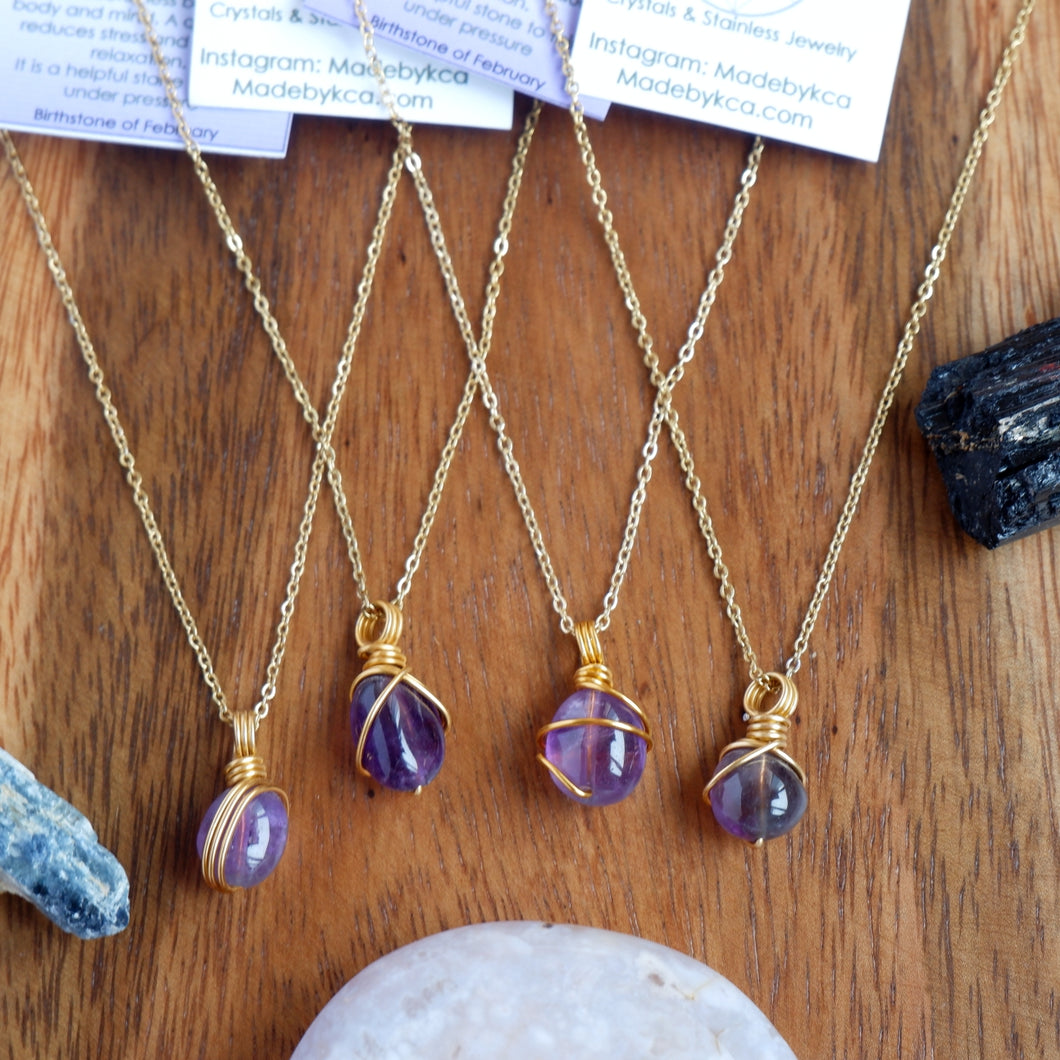 Free-form Amethyst Necklace