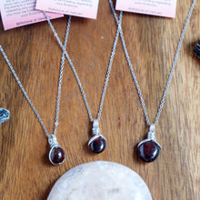Free-form Garnet Necklace