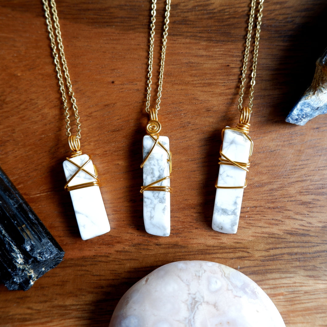 Howlite Shard Necklace