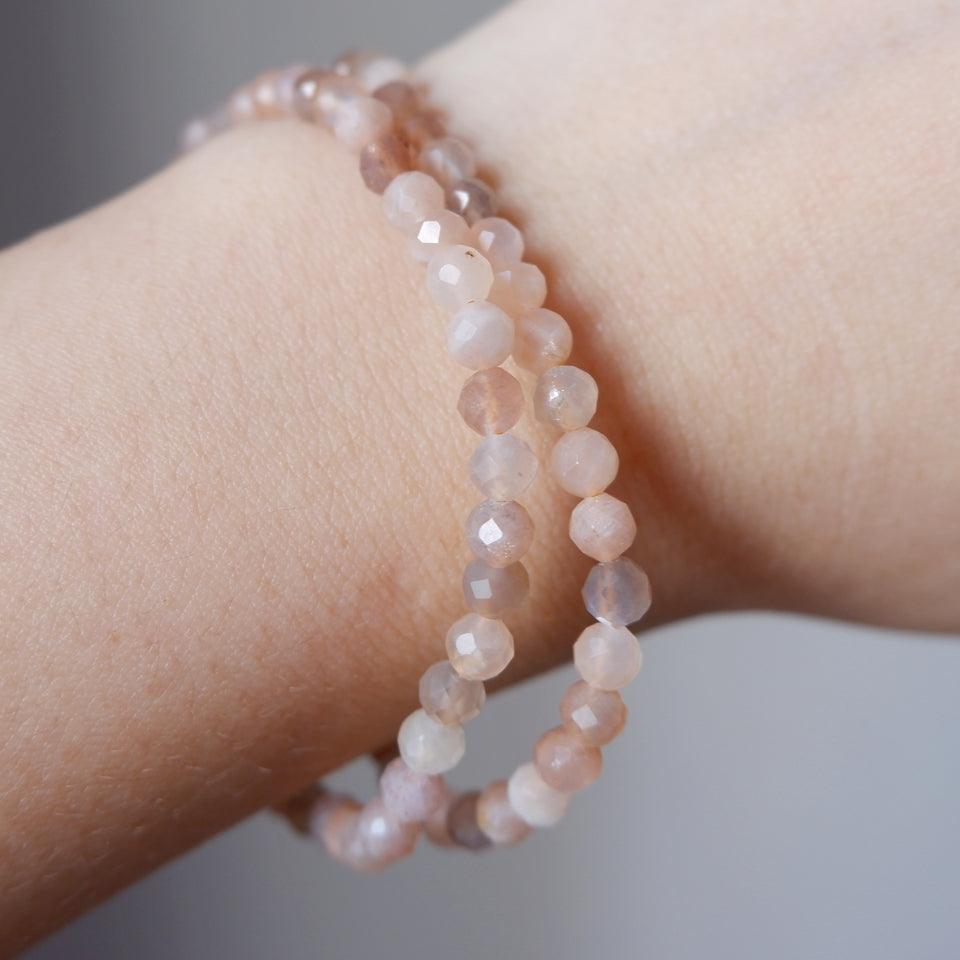 Sunstone Crystal Bracelet 4mm