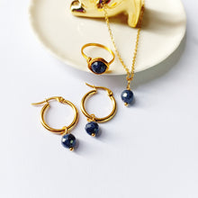 Sapphire Set - Necklace, Earrings, Ring