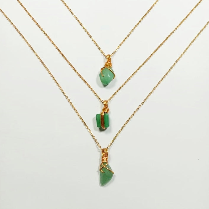 Free-form Aventurine Necklace
