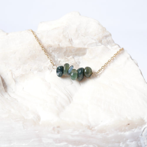 Gemstone Bar - Moss Agate