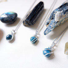 Free-form Blue Apatite Necklace