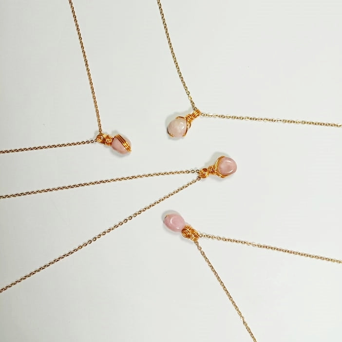 Free-form Pink Opal Necklace