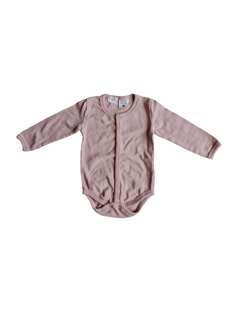 Organic Basic Bodysuit - Rose