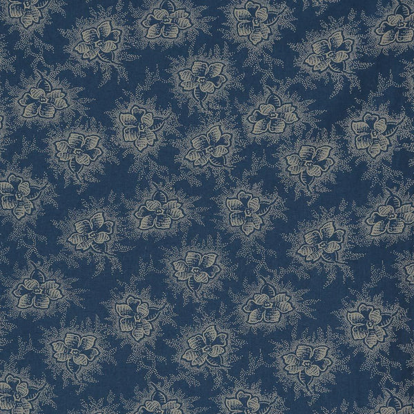 Camomile London Organic Fitted Sheet - Spot Floral Indigo-Camomile London-MINIOKE