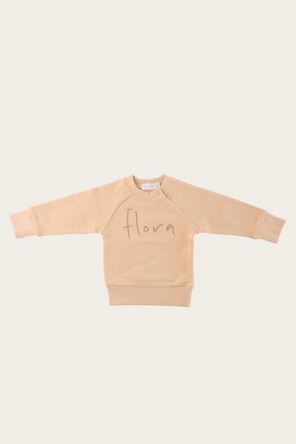 Flora Sweatshirt - Honey Peach