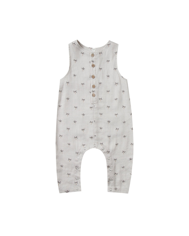 Rylee + Cru Palms Button Jumpsuit