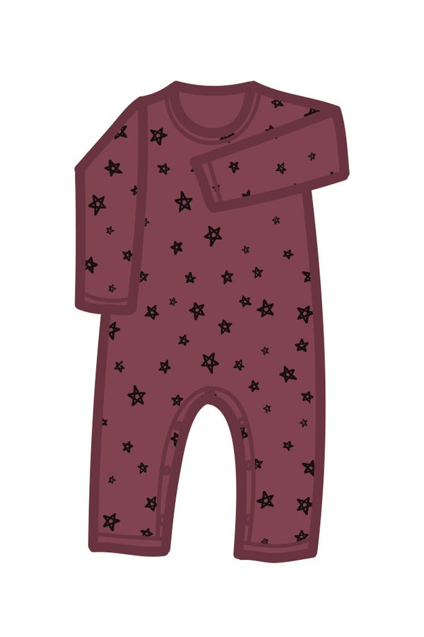 G.Nancy Currant Star Longsleeve Romper | MINIOKE