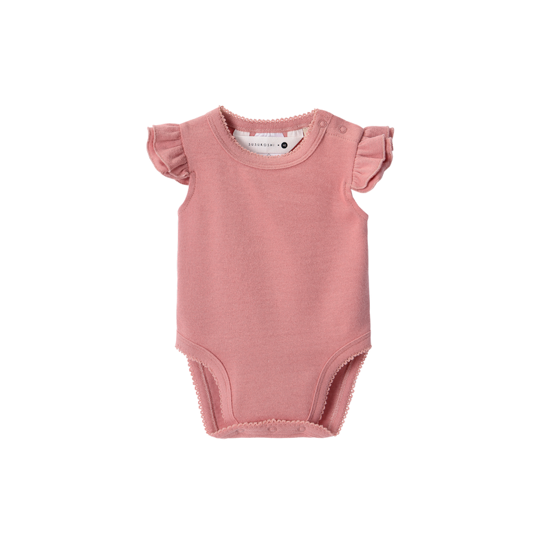 Organic Cotton Flutter Suit - Pink Clay