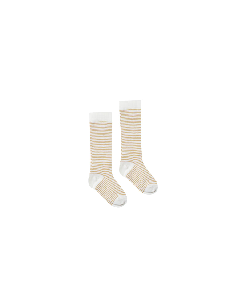Rylee + Cru Stripe Socks - Honey | MINIOKE