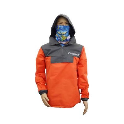 FISHMAN Rip Stop Jacket - S / Orange - Jackets Clothing Apparel