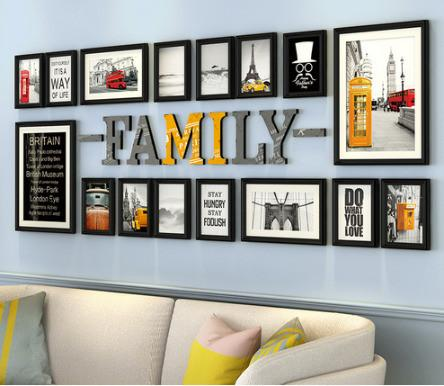 Pine Family Frame Set Hangs 16 Photos Free Shipping