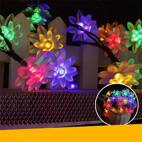Lotus Flower Garden String Lights
