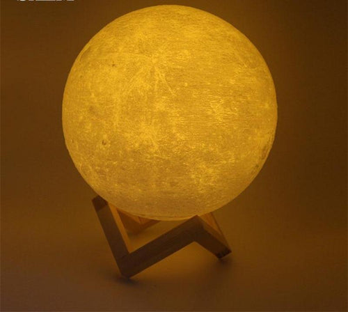 3D Realistic Moon Lamp