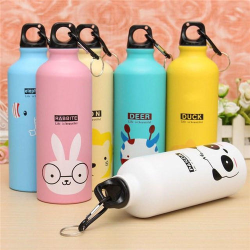 Accessories - Cute Cartoon Aluminum Sport Bottle | 500 Ml