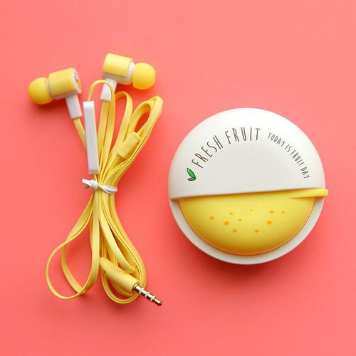Gadgets - Cute Fruit Candy Earphones W/ Microphone